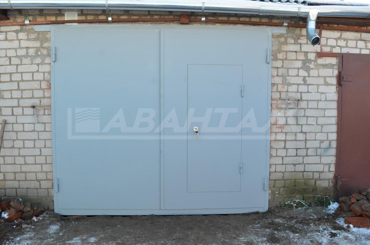 Железные ворота на гараж иваново скачать чертеж металлического гаража